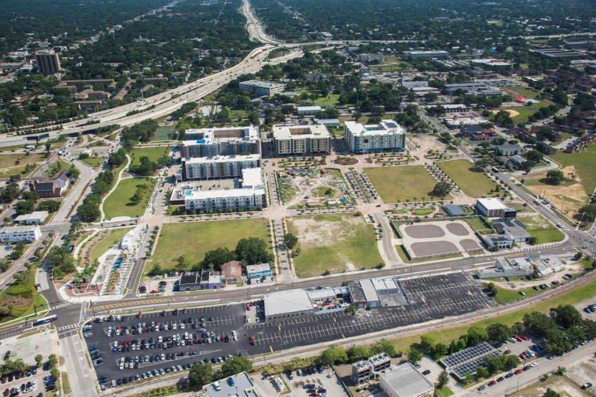 ENCORE! June 1, 2016 aerial photo, Tampa, Florida