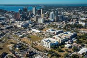 ENCORE! December 1, 2017 aerial photo, Tampa, Florida