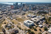 ENCORE! February 1, 2017 aerial photo, Tampa, Florida