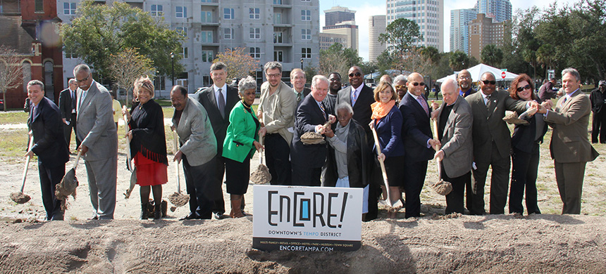 Groundbreaking at The Tempo at ENCORE!, February 13, 2014