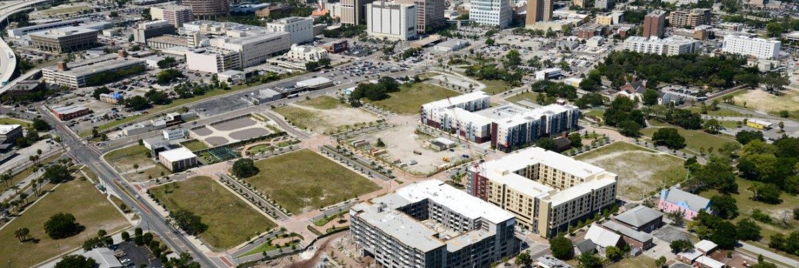 July Aerial Shows Progress at ENCORE! Downtown Tampa